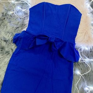 Dresses & Skirts - Sexy Blue Peplum Dress